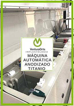 Máquina automática anodizado titanio